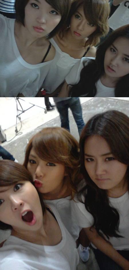 Jiyoon, Gayoon & HyunA comparten selcas 20110806_4minute_jiyoongayoonhyuna